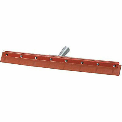 "Flo-Pac Straight Red Gum Rubber Floor Squeegee -Heavy Duty Steel Frame 18"", Lot"