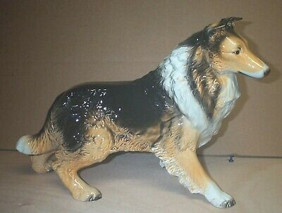 Large GOEBEL   Porcelain Collie Figurine in Super Condition