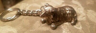 Collie Key Ring Jewelry Sterling Silver Handmade Dog Key Ring