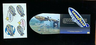 """Goodyear blimp """"Limited Edition"""" Collectable blimp fabric and stickers"""