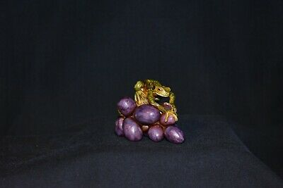 Eyre Designs 'Frog on Grapes' Version 3 Purple Grapes