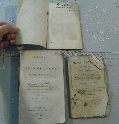 3 Books Early 1800s signed Lewis Stirling Wakefield Plantation West Feliciana LA