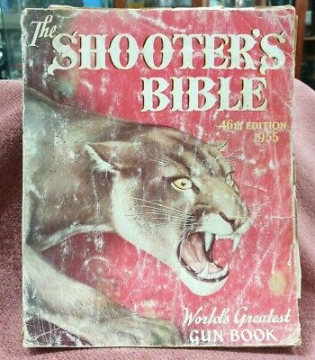 Vintage Book The Shooters Bible 46Th Edition 1955 Catalogue Mountain Lion Cover