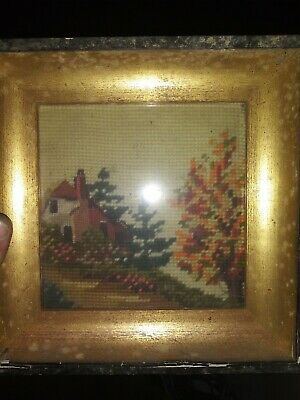 Hand Woven Picture Of House