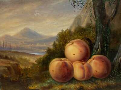 Oil on Canvas & Landscape Of XIX ° Th Century & Still Life Posterior & Ref D