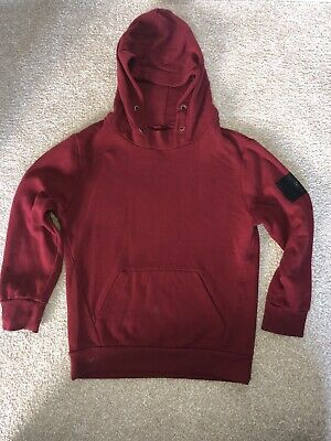 River Island Boys Dark Red Pull Over Hoodie Size 7-8 Years