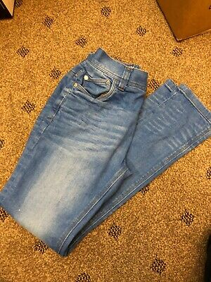 NEXT Boys jeans - blue skinny adjustable waist flat front - age 12 years
