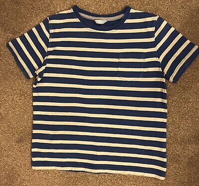 ** John Lewis, Boys age 10 years, royal blue and white striped t-shirt**