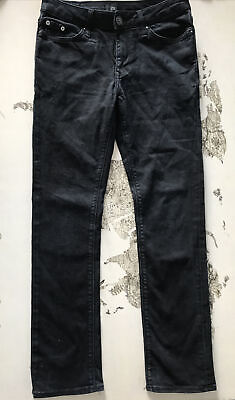 Boys Black River island Jeans, 26W 30L. Slim Fit.