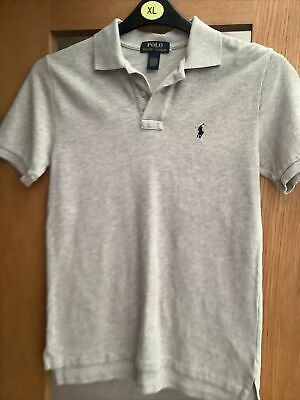 Boys Ralph Lauren Mottled Grey Polo Shirt M/ 10-12 Years 18 Inch Chest BNWOT