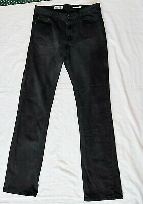 Mens/Boys Black Jeans From Twisted Soul Size 30/30 Slim Fit