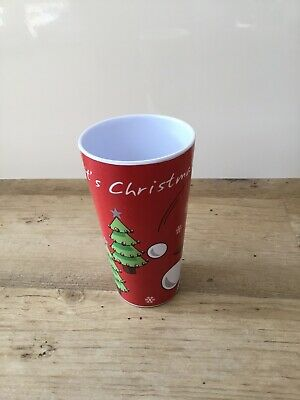 It;s Christmas Tall Plastic Drinking Cup New