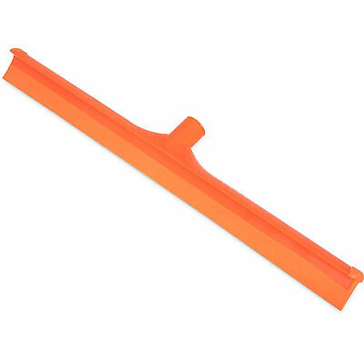 "Spectrum Color-Coded One-Piece Rubber Floor Squeegee 24"", Orange, Lot of 6"