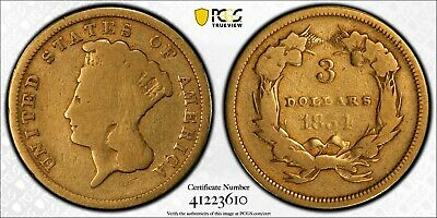 1854 Indian Princess Gold Dollar Coin $3 PCGS G06