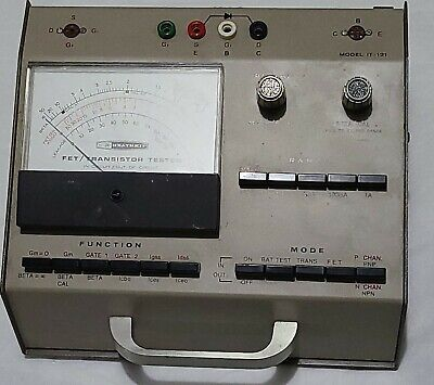 1950/1960 Heathkit FET/Transistor Tester IN-CIRCUIT/OUT-OF-CIRCUIT Model IT-121