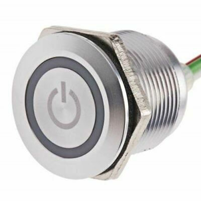 Push Button Touch Switch, Momentary, NO,Illuminated, Green, Red, IP68 Brass, 5 3