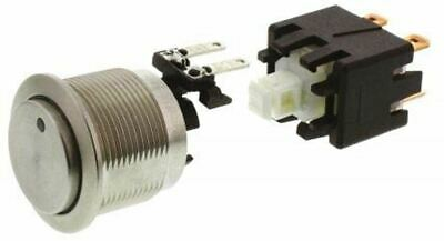Double Pole Single Throw (DPST) Latching Push Button Switch, IP64 (Front); IP00