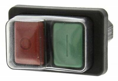 Double Pole Single Throw (DPST) Latching Push Button Switch, IP65, 21.7 x 45.2mm