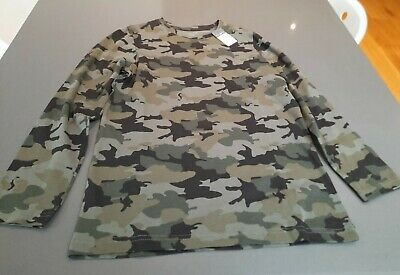 Boys Primark Long Sleeved Camouflage Top Age 10-11 - Brand New