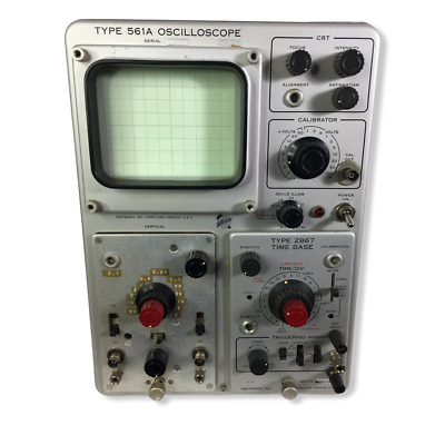 Vintage Type 561a Oscilloscope Voltage Test Instrument O Scope Tektronix
