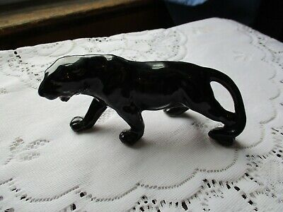 "Vintage  Black Panther Figurine 5.5"" L, 2.5"" H, 1 1/8"" W, Unknown Material"