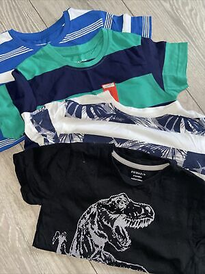 Boys Spring summer T-shirt's Tops X4 age 6-7 Years brand new Primark