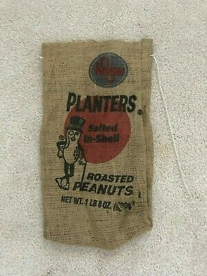 Kroger Planters Salted In-Shell Roasted Peanuts Burlap Bag Promotion