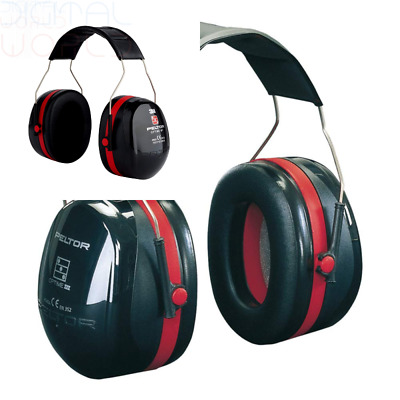 3M Peltor Optime III Earmuffs with Headband, 35 dB, Black/Red – Protection...