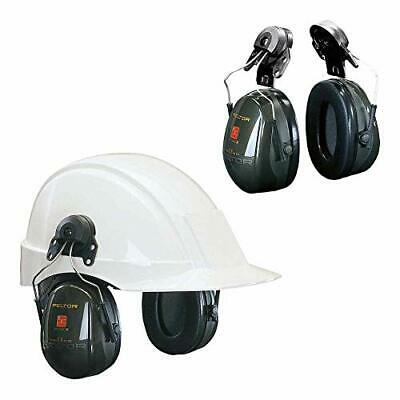 PELTOR Optime II Earmuffs, 30 dB, Green, Helmet Mounted, H520P3E-410-GQ