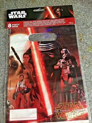 Disney Party/Gift Bags for Children Star Wars The Force Awakens pack of 8 New