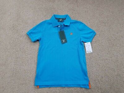 Boys Turquoise short sleeve polo shirt Age 8-9 Yrs Beverley Hills Polo Club BNWT