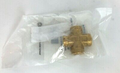 "Western Enterprises BCR-4HP 1/4"" Female Solid Brass Pipe Thread Cross, 3000 PSI"