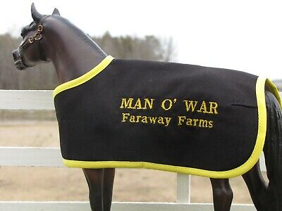 MAN O WAR embroidered blanket fits Breyer thoroughbred race horse TB racehorse