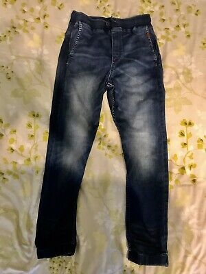 H&M - Blue Elasticated Jogger Jeans ( Age 170 )