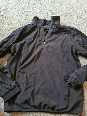 marks and spencer age 11-12 black 1/2 zip activewear sport top pe/sports
