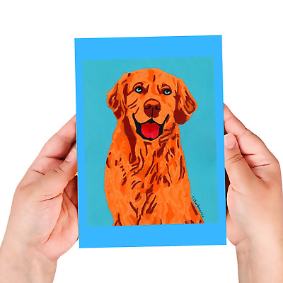 Golden Retriever sketchbook, 60 blank/unlined pages, sewn binding, softcover