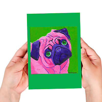 Pug sketchbook, 60 blank/unlined pages, sewn binding, softcover