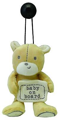 Mothercare Baby on Board Teddy Bear Vehicle Plush Window Car Sucker Sign