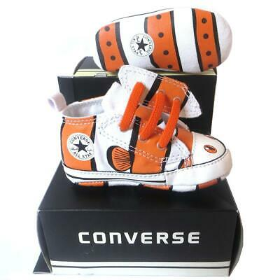 Baby Boy Converse All First Star Finding Nemo Fish Crib Trainers Shoes Size UK 4