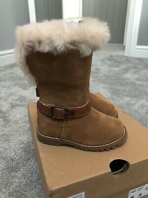 Girls Ugg Boots Toddler Infant Boots Size 5 EU21 Zip Back New
