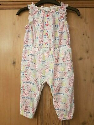 F&F Baby Girls Summer One Piece White Multi Floral Print Age Up To 3 Months