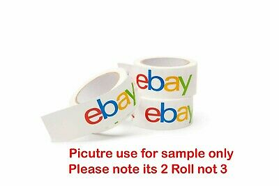 2 Roll official eBay Branded Packaging Parcel Packing Tape 75 Yards 50mm Wide