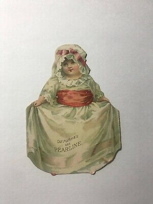 1800's James Pyle's Pearline Die Cut Little Girl Victorian Trade Card