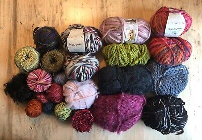 Mixed Lot of Assorted Yarn Unused and Left over Skeins