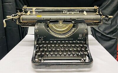 Rare Antique Early Olympia Large Carriage Typewriter - No Reserve