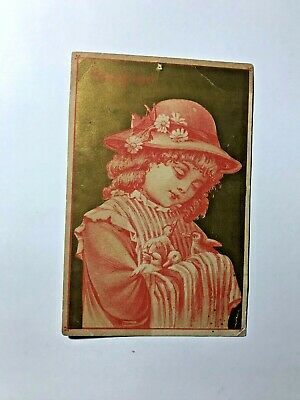 1800's Soapine Kendall MFG. Co Girl With Birds Victorian Trade Card