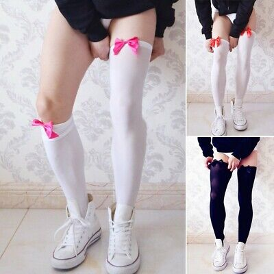 Mens Sexy Long Socks Over Knee Sheer Mesh Bowknot Nightclub Sissy Stockings Sock