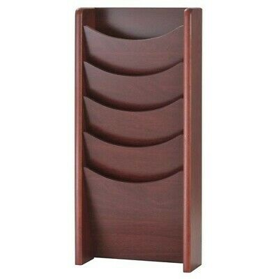 Buddy Products Wall Mounted/Free Standing Magazine Rack Solid Wood