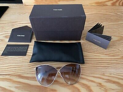 New Tom Ford Tf 251 28G Evelyn Gold Gradient Frames Authentic Sunglasses 66-5