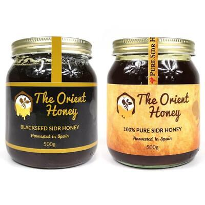 500g Black Seed Sidr + 500g Pure Sidr Honey Top Quality 100% Authentic Raw Royal